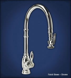 Traditional low flow kitchen faucet available in a myriad of finishes