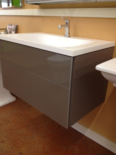 Glass Front Wall Mount Vanity By Keuco Plumbed Elegance