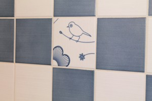 Close up of the bird tile