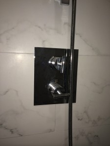 The Shower is Thermostatically controlled so temperature and flow can be VERY exact