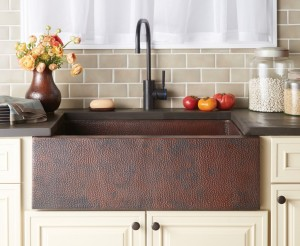 Copper Farmhouse Sink by Native Trails (Pinnacle in Antique Finish)