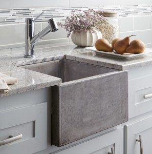 Concrete Farmhouse Sink by Native Trails (NativeStone Ventana in Ash finish)