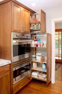 Think of how easy it will be to pull this pantry out and not have to bend down and dig for items WAY in the back. SOOO Practical! It seems like one would be more likely to use everything because things will always be within sight providing inspiration for meals